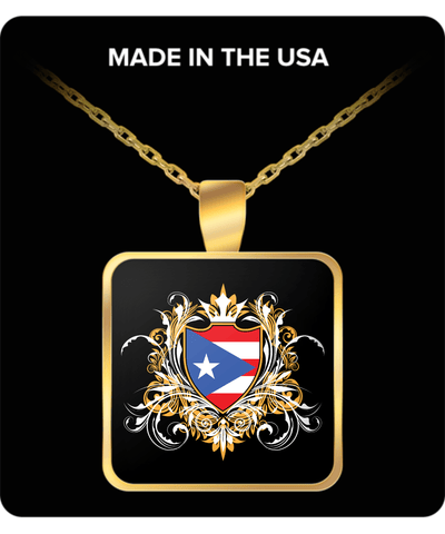 Puerto Rican Royalty Gold Plated Necklace