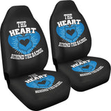 Heart Behind The Badge Custom Printed Car Seat Covers (set of 2)