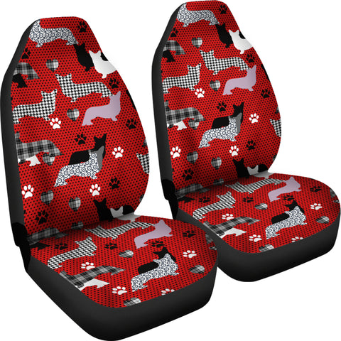 Dogs Red Car Seat Covers