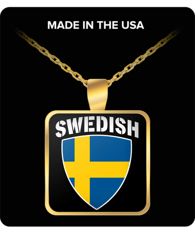 SWEDISH PRIDE GOLD PLATED NECKLACE
