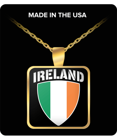 Ireland Pride Gold Plated Necklace