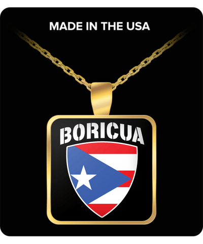 Proud Boricua Gold Plated Necklace
