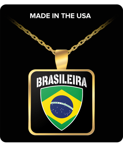 Brasileira Proud Gold Plated Necklace