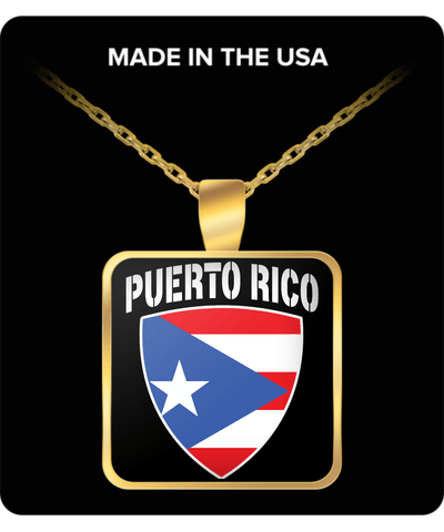 Puerto Rico Pride Gold Plated Necklace