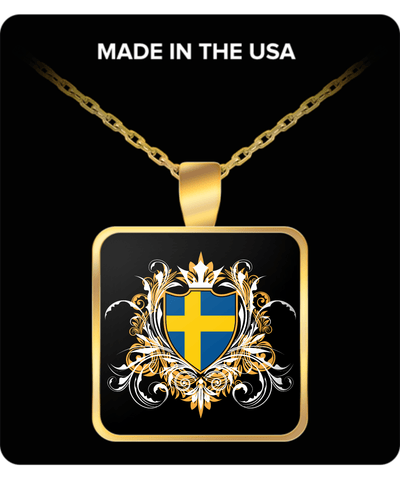 SWEDISH ROYALTY GOLD PLATED NECKLACE