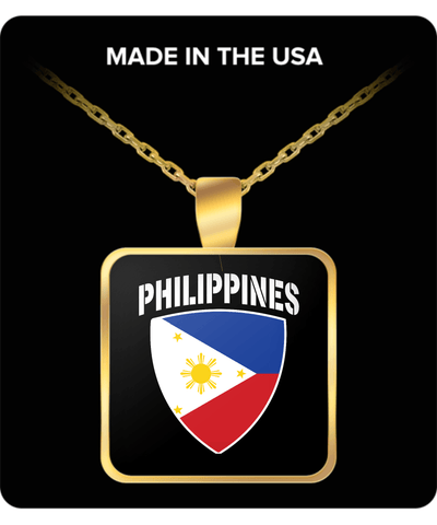 Philippines Pride Gold Plated Necklace