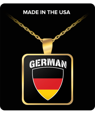 German Pride Gold Plated Necklace