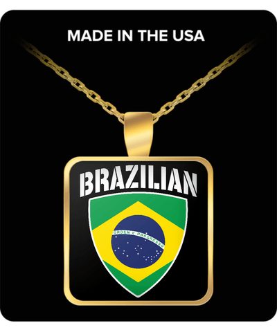 Brazilian Pride Gold Plated Necklace