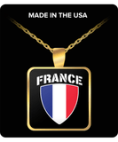 France Pride Gold Plated Necklace