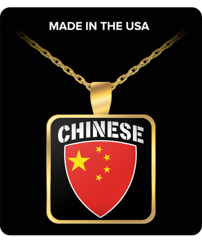 Chinese Pride Gold Plated Necklace