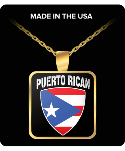 Puerto Rican Pride Gold Plated Necklace