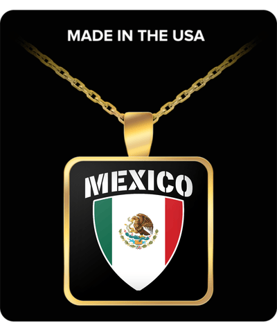 Mexico Pride Gold Plated Necklace