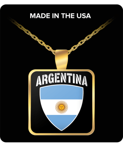 Argentina Proud Gold Plated Necklace