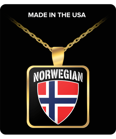 Norwegian Pride Gold Plated Necklace