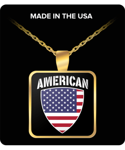 American Pride Gold Plated Necklace