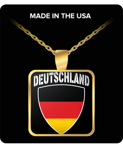Deutschland Proud Gold Plated Necklace