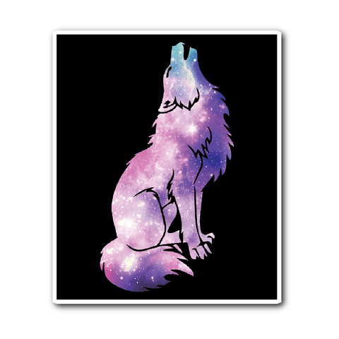 Galaxy Wolf Vinyl Sticker (Free Shipping)