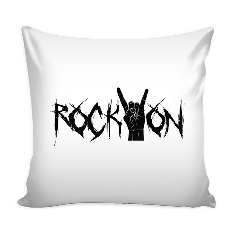 Rock On Pillow Cover (Free Shipping)