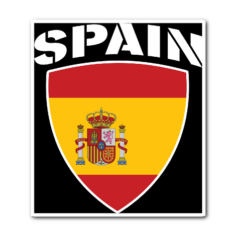 Spain Pride Vinyl Sticker (Free Shipping)