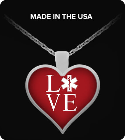 Necklace - EMT - Paramedic Love Necklace