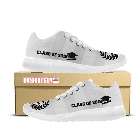 Class of 2018 Custom Printed Sneakers (White)
