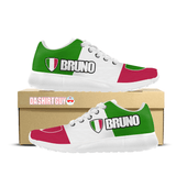 Bruno Italian Pride Custom Printed Sneakers