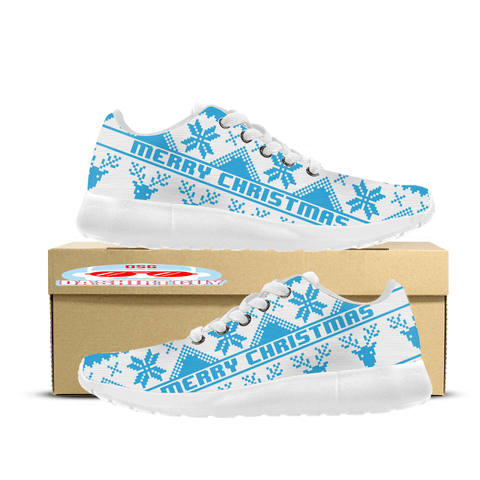 Blue Ugly Christmas Custom Printed Sneakers