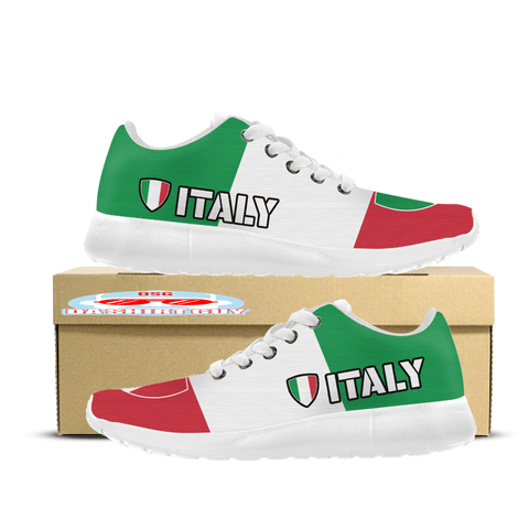 Italy Pride Custom Printed Sneakers