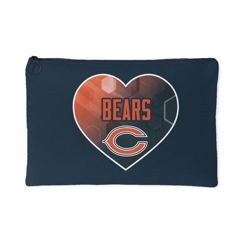 Chicago Bears Patterned Heart Accessory Bag (Free Shipping)
