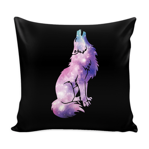 Galaxy Wolf Pillow Cover (Free Shipping)