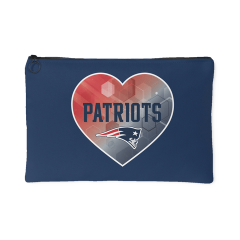 New England Patriots Patterned Heart Accessory Bag (Free Shipping)