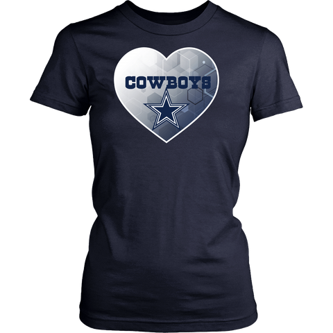 Dallas Cowboys Patterned Heart