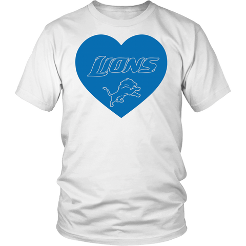 Detroit Lions Simple Heart