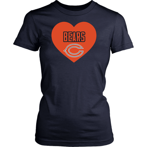 Chicago Bears Simple Heart