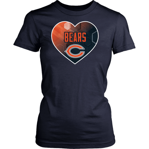 Chicago Bears Patterned Heart
