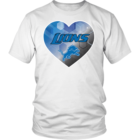 Detroit Lions Patterned Heart