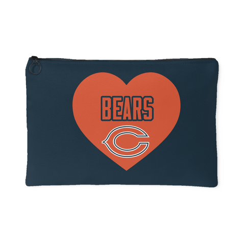 Chicago Bears Simple Heart Accessory Bag (Free Shipping)