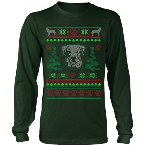T-shirt - Labrador Retriever Ugly Christmas Sweater - Long Sleeve
