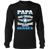 T-shirt - PAPA WAS CREATED