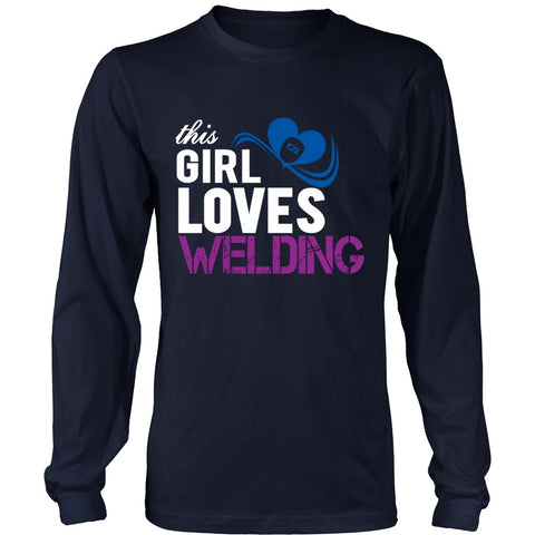 T-shirt - This Girl Loves Welding