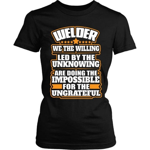 T-shirt - Welder: We The Willing