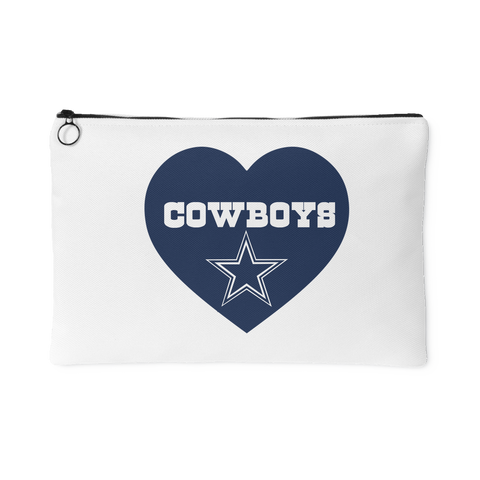 Dallas Cowboys Simple Heart Accessory Bag (Free Shipping)