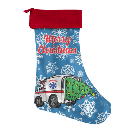 Santa EMS Christmas Stocking
