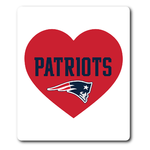 New England Patriots Simple Heart Vinyl Sticker (Free Shipping)