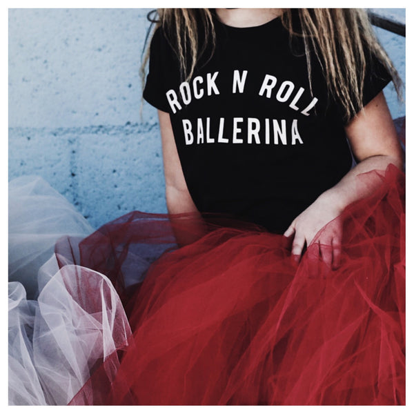 Rock n Roll Ballerina Adult Tee