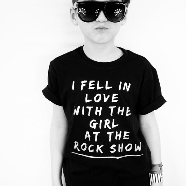 I Fell in Love with the Girl at the Rock Show kiddie tee
