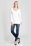 V-Neck Long Sleeve (Long Length)
