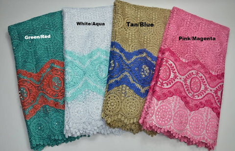 FL0026- Designed Organza Lace (4 Colors Available)