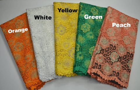 FL0025- Flower Designed Organza Lace (10 Colors Available)
