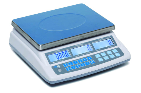 MC: Piece Counting Scale: stainless steel pan: digital scale